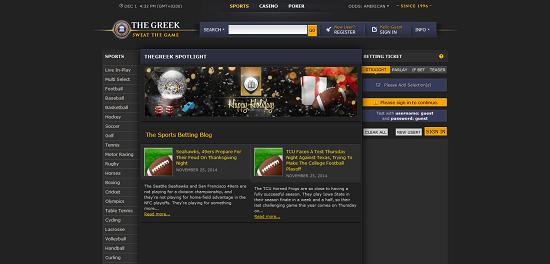 Ставки в букмекерской конторе The Greek